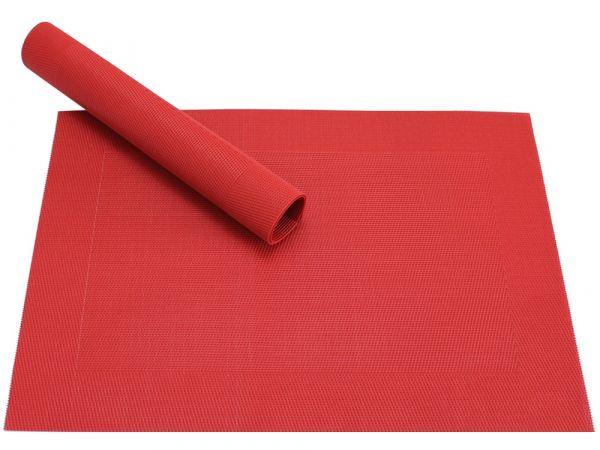 Tischset Platzset BORDA rot 1 Stk. Kunststoff gewebt abwaschbar