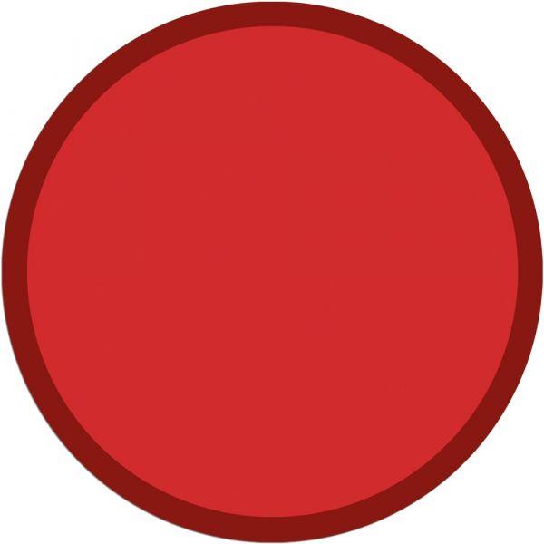 Fußmatte Türmatte Teppich UNI einfarbig rutschfest Ø 65 cm rund Farbe rot