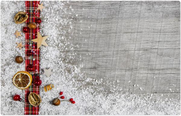 Tischset Platzset Weihnachten Weihnachtsdeko & Holz 1 Stk. abwaschbar 43,5 cm