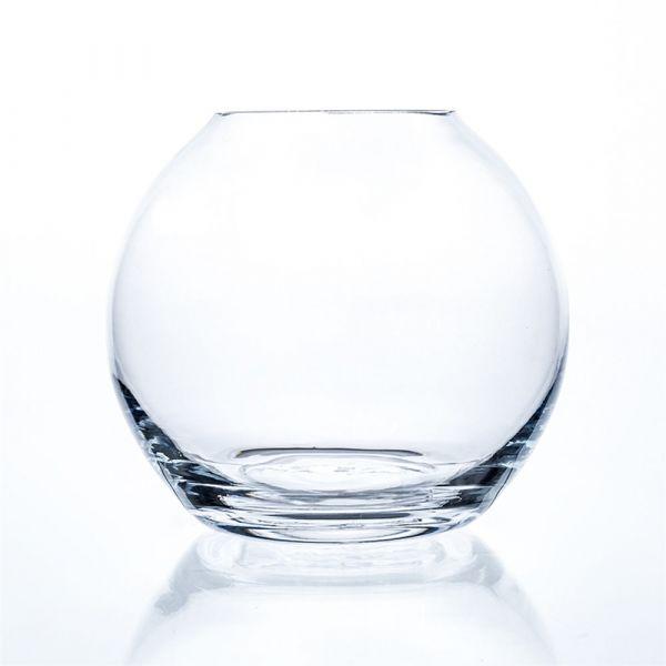 Glaskugel Dekoglas Kugelvase Glasgefäß cold cut Glastopf 1 Stk - Ø 19x17 cm