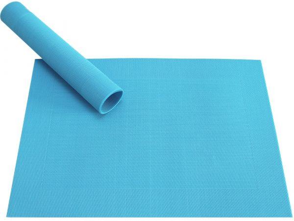 Tischset Platzset BORDA hellblau türkis 1 Stk. Kunststoff gewebt abwaschbar