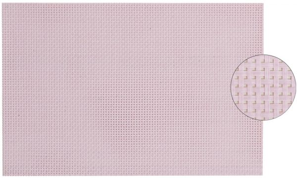 Tischset Platzset ELEGANCE rosa gewebt 1 Stk. abwaschbar 45x30 cm Kunststoff