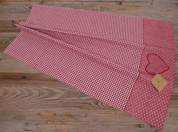 Geschirrtuch Landhaus Premium LINA Textil kariert Bordüre 50x70 cm rot