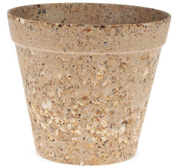 Pflanztopf Blumentopf nachhaltig kompostierbar biologisch beige 1 Stk Ø 11x9,5 cm