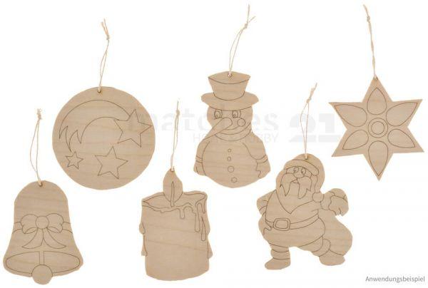 Laubsägevorlage Baumschmuck Weihnachten Holz Vorlage Laubsäge Kinder ab 8 Jahre