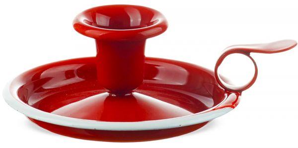 Email Retro Kerzenhalter Kerzenständer Kerzenleuchter Retro rot / weiß Ø 13 cm