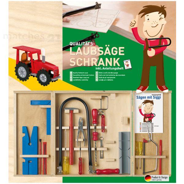 Kinder Werkzeugkasten Laubsäge-Set 20-tlg. Kinderwerkzeug Anleitung
