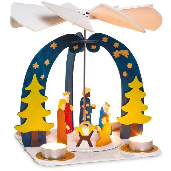 Weihnachtspyramide 3D Holz Steckbausatz Bausatz / Kinder Bastelset ab 8 Jahrenn