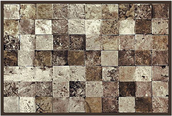 Fußmatte Fußabstreifer DECOR Beton Stein Fliesen grau Quadrate waschbar 40x60 cm