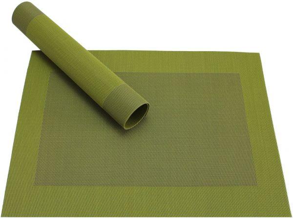 Tischset Platzset BORDA oliv grün 1 Stk. Kunststoff gewebt abwaschbar
