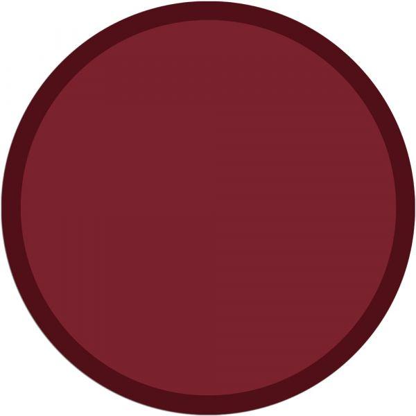 Fußmatte Türmatte Teppich UNI einfarbig rutschfest Ø 65 cm rund Farbe weinrot