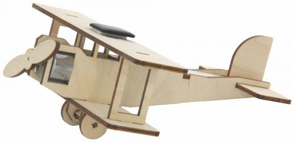 Solar Doppeldecker Holz Steckbausatz Bausatz Bastelset für Kinder ab 8 Jahren