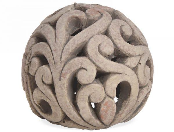 Kugel Gartenkugel Dekofigur Skulptur Ton Tonkugel Gartendeko 1 Stk - 3 Größen