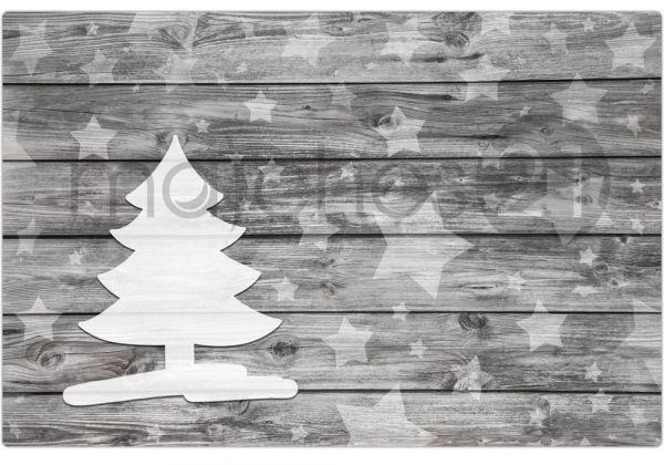 Tischset Platzset Weihnachten Weihnachtsbaum & Holz 1 Stk. abwaschbar 43,5 cm