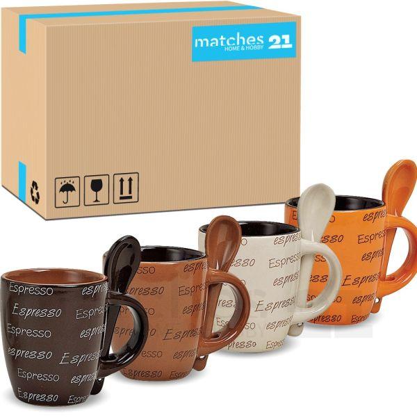 Espressotassen aus Keramik Espressodekor 48 Stk. Karton 7 cm / 50 ml