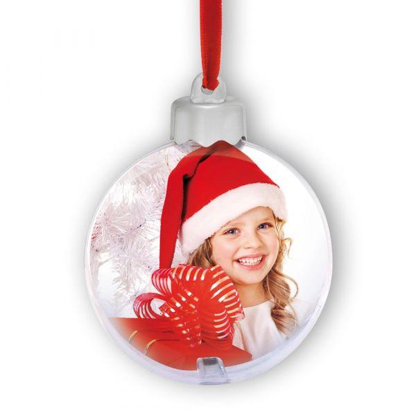 Fotokugel Christbaumkugel Weihnachtskugel Weihnachten Bilderrahmen 1 Stk Ø 10 cm
