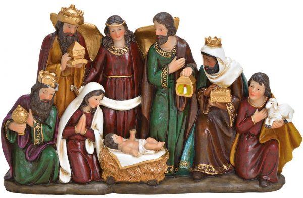 Krippenfiguren für Weihnachtskrippen Christkind Josef & Maria Hl. 3 Könige 34 cm