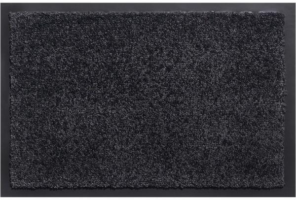 Schmutzfangmatte schmutzabsorbierend Fußmatte Uni einfarbig 60x80 cm - Anthrazit