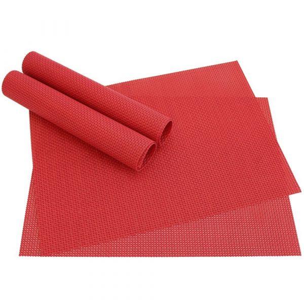 Tischset Platzset ELEGANCE Platzmatten 4er Set gewebt Kunststoff / Farbe wählbar