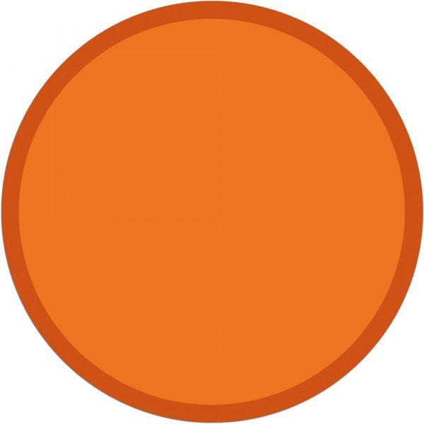 Fußmatte Türmatte Teppich UNI einfarbig rutschfest Ø 95 cm rund Farbe orange