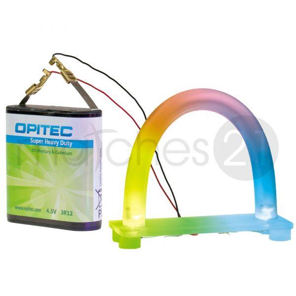 Regenbogen Deko-Licht U-Leuchte bunt 11 cm Kinder Bausatz Werkset Bastelset ab 10 J.