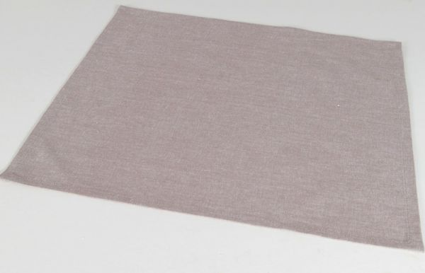 Stoffserviette Serviette Landhaus Premium ROSI grau weiß Melange 45x45 cm