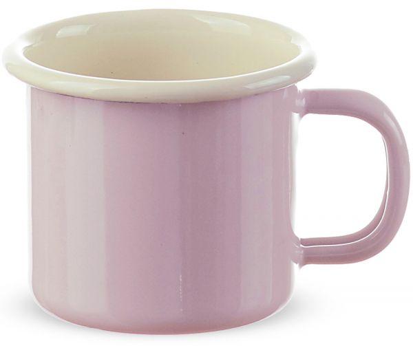 Email Becher Trinkbecher für Kinder Kindergeschirr rosa 6x6 cm / 125 ml