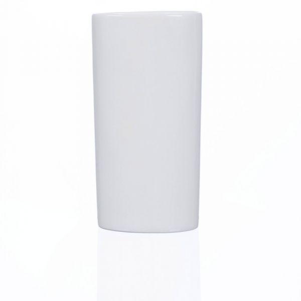 Porzellanvase zylinderförmig rund Porzellan Dekovase Vase weiß 9x5x14 cm