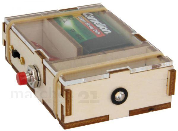 LED Taschenlampe Kinder Holz Bausatz vorgestanzte Teile & Lötübung ab 10 Jahren