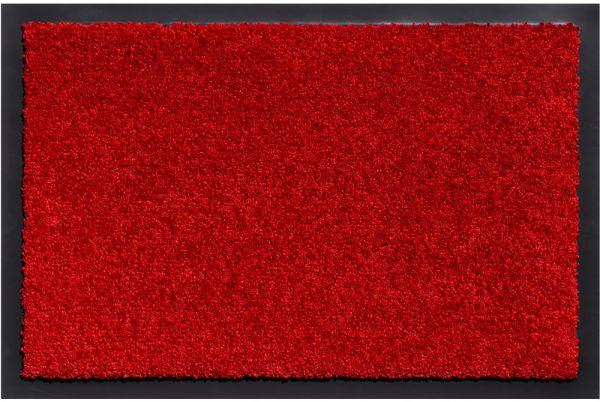 Schmutzfangmatte schmutzabsorbierend Fußmatte Uni einfarbig 90x150 cm - Rot