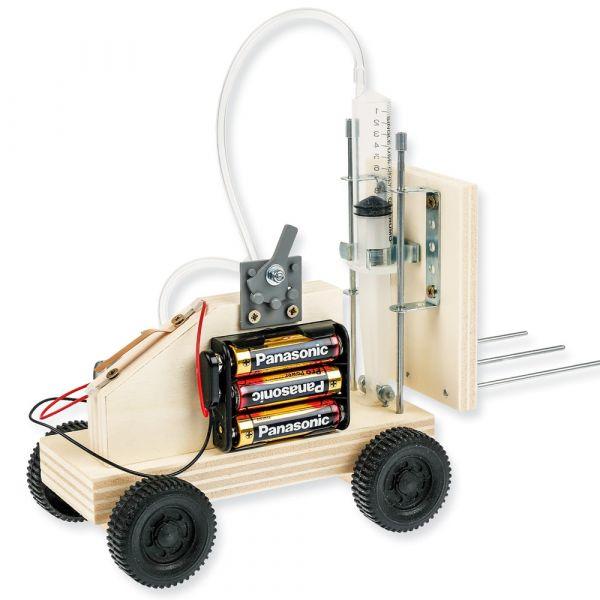 Hubstapler Luftdruck / Hydraulik Bastelset mit E-Kompressor Bastelset ab 11 Jahre