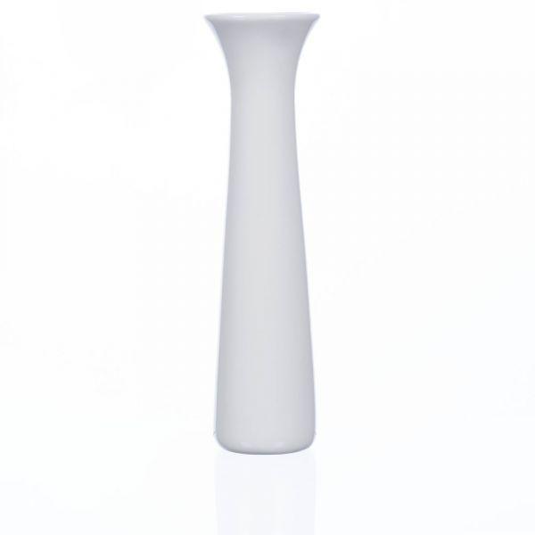 Porzellanvase trompetenförmig rund Porzellan Dekovase Vase weiß Ø5,5x20 cm