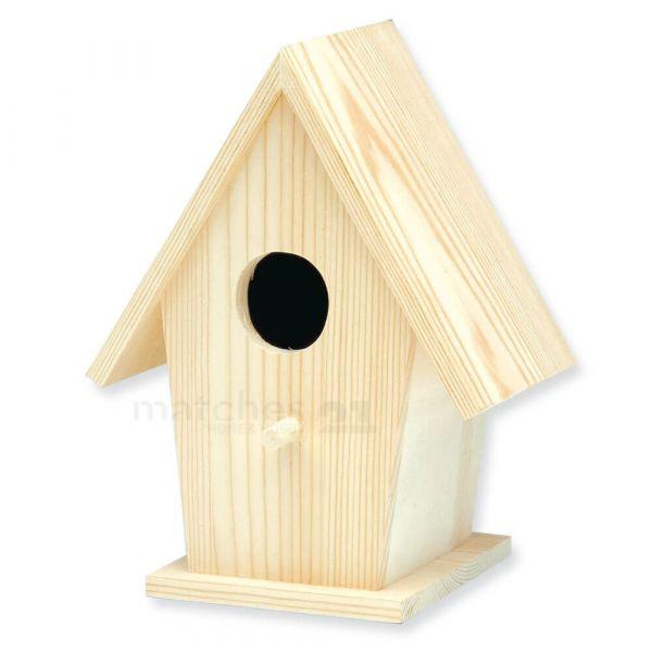 Vogelhaus Nistkasten Naturdeko gestaltbar 18,5 cm Massivholz - ab 6 Jahren