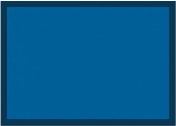 Fußmatte Fußabstreifer UNI einfarbig rutschfest waschbar 50x70 cm Farbe blau