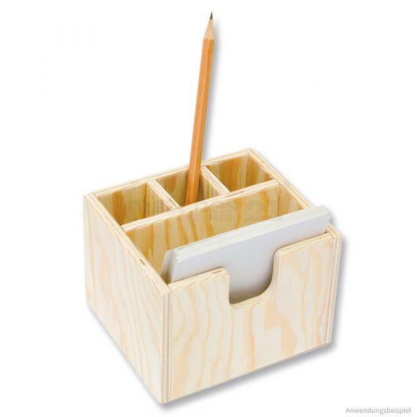 Notizzettelbox & Stiftehalter Holz Bausatz Kinder Werkset Bastelset ab 11 Jahren