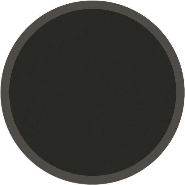 Fußmatte Türmatte Teppich UNI einfarbig rutschfest Ø 65 cm rund Farbe schwarz