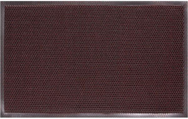 Fußmatte Fußabstreifer Türmatte Outdoor 3D Effekt 50x80 cm Polyester - Rot