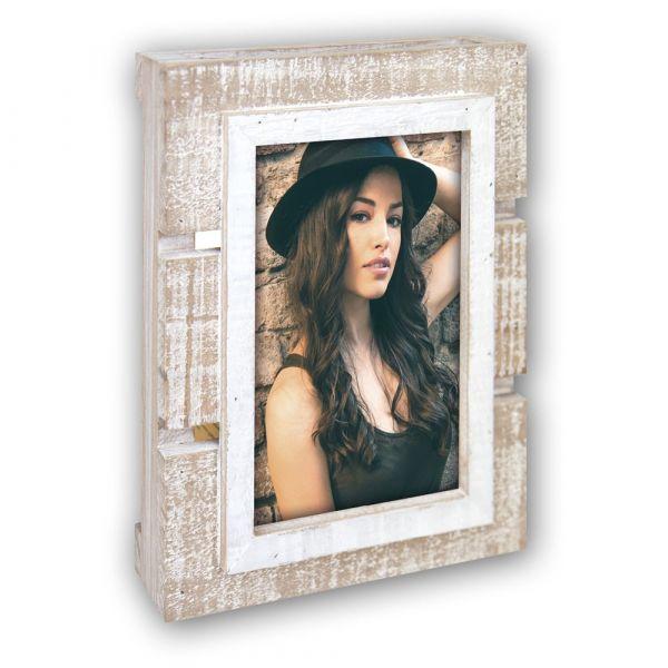 Bilderrahmen Palettenrahmen Europalette Holz Fotos & Bilder Shabby Look 10x15 cm