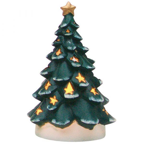 Windlicht Tannenbaum Weihnachtsbaum 1 Stk. Grün 18 cm Porzellan Weihnachtsdeko