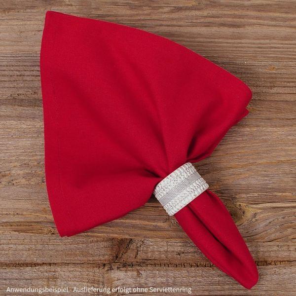 Stoffserviette Serviette Landhaus MARIE rot uni einfarbig 45x45 cm 1 Stk