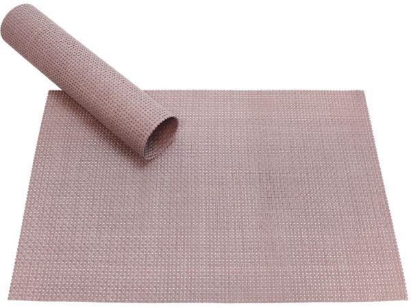 Tischset Platzset ELEGANCE alt-rosa gewebt 1 Stk. Abwaschbar 45x30 cm