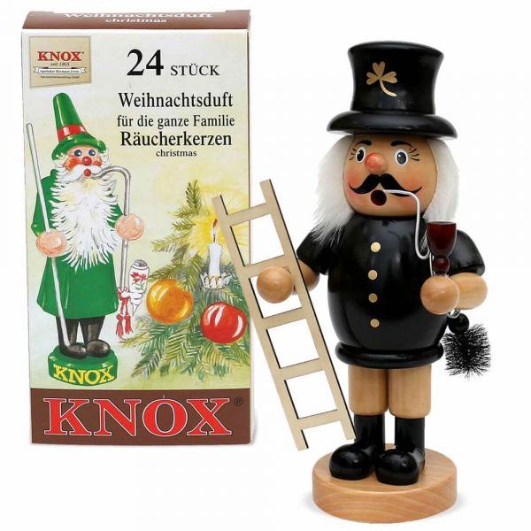 Räuchermännchen Holz 24 cm Weihnachten viele Berufe / Designs & Räucherkerzen