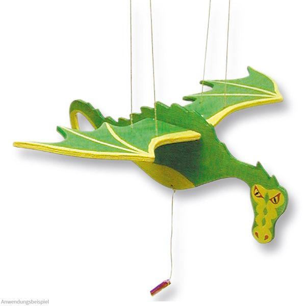 Drache Mobile schwebend Flügelschlag Bausatz Holz Kinder Werkset - ab 10 Jahren