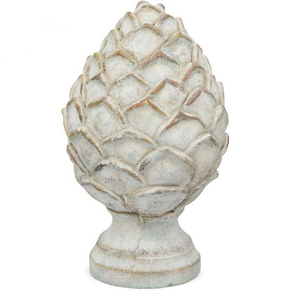 Tannenzapfen Pinienzapfen Zapfen Figur Gartendeko Zement creme 1 Stk Ø 13x21 cm