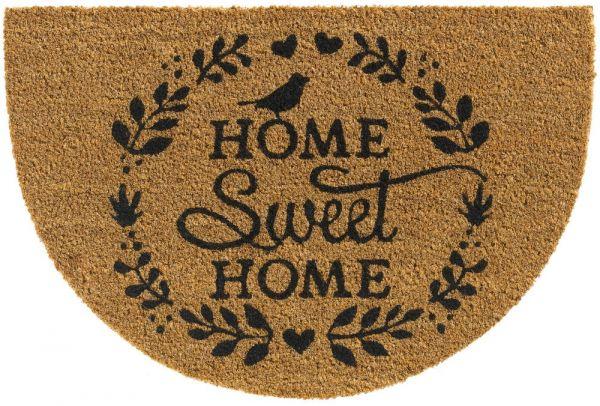 Bio Kokosmatte Indoor Fußmatte natürliche Latexbeschichtung Home sweet Home 60 cm