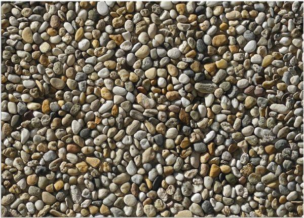 Fußmatte Fußabstreifer DECOR Kieselsteine Steine Steinoptik waschbar 50x70 cm