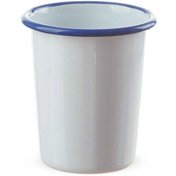 Email Becher konisch / Trinkbecher weiß Kaffeebecher 350 ml
