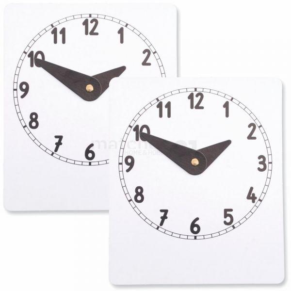Lernuhr Uhr lernen Uhrzeiten Lernspiel Lernuhr Selberbasteln Kleinkinder 2er Set - bis 6 Jahre