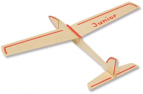 Junior Segelflieger Flugzeug 34 cm Bausatz Kinder Werkset Bastelset ab 9 Jahren