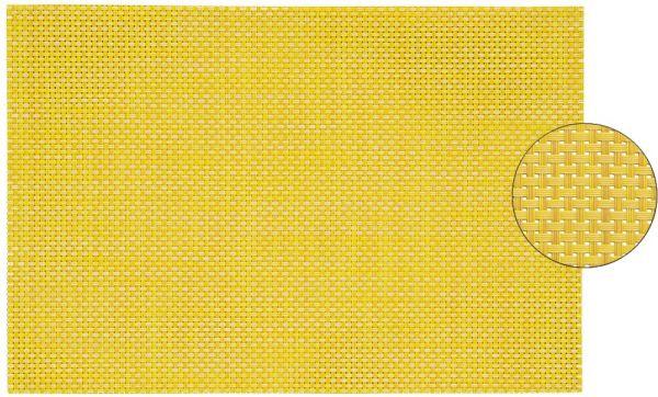 Tischset Platzset ELEGANCE gelb gewebt 1 Stk. abwaschbar 45x30 cm Kunststoff